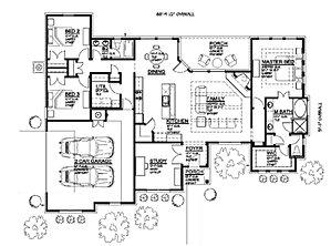 Custom Floor Plans one story floor plan make bedroom 2 the study somehow get 2 more bedrooms 1874 Floor Plan