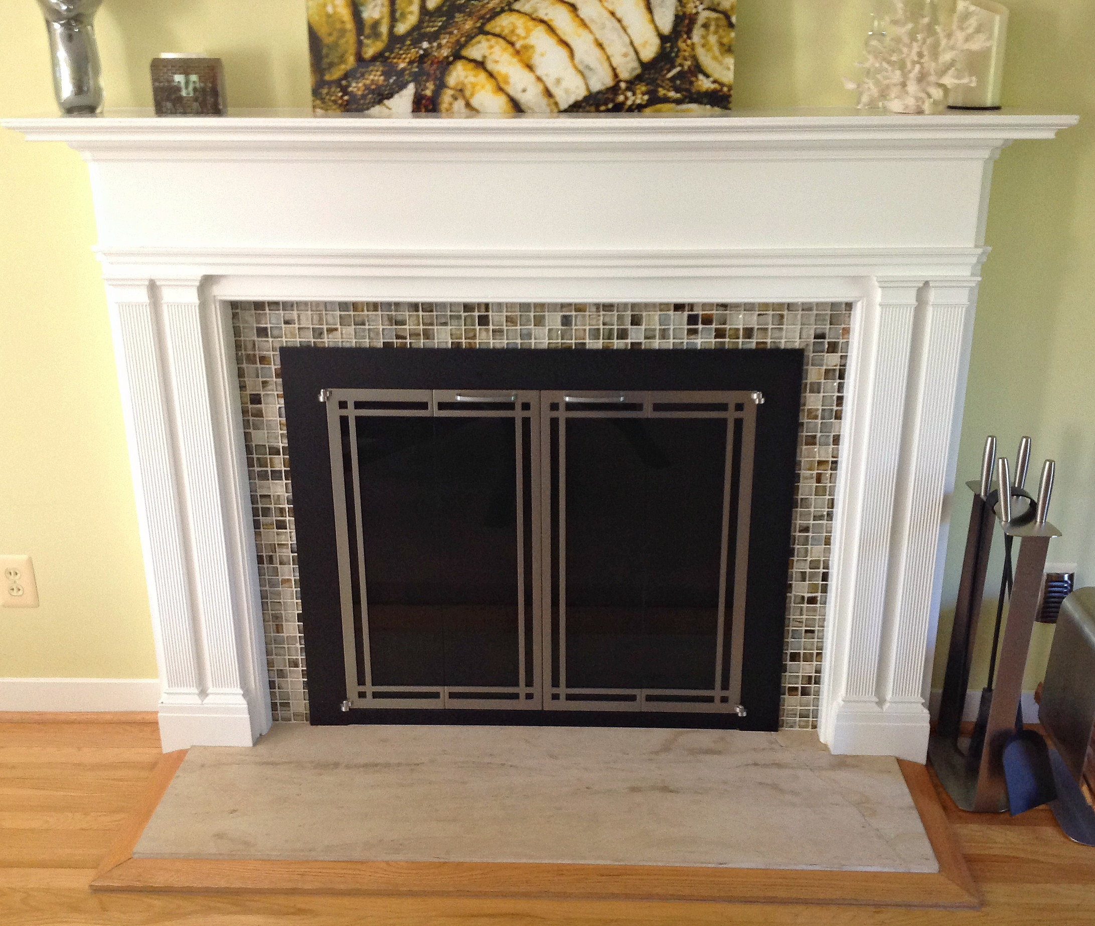 Tile Company Glass Mosaic Fireplace