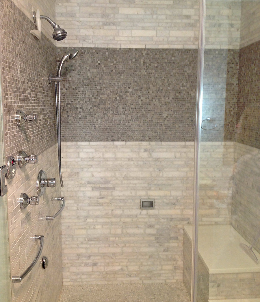 Tile company marble grey shower dailygadgetfo Gallery