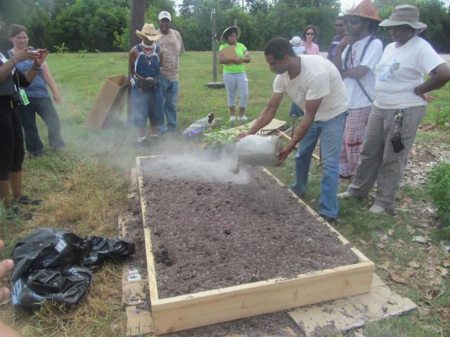 Adding nutrients to soil