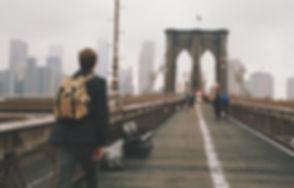 Crossing Brooklyn Bridge