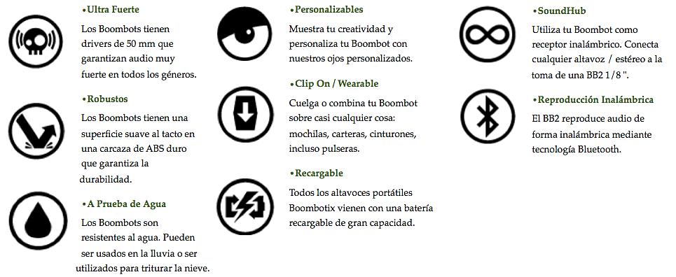 Boombot caracteritcas