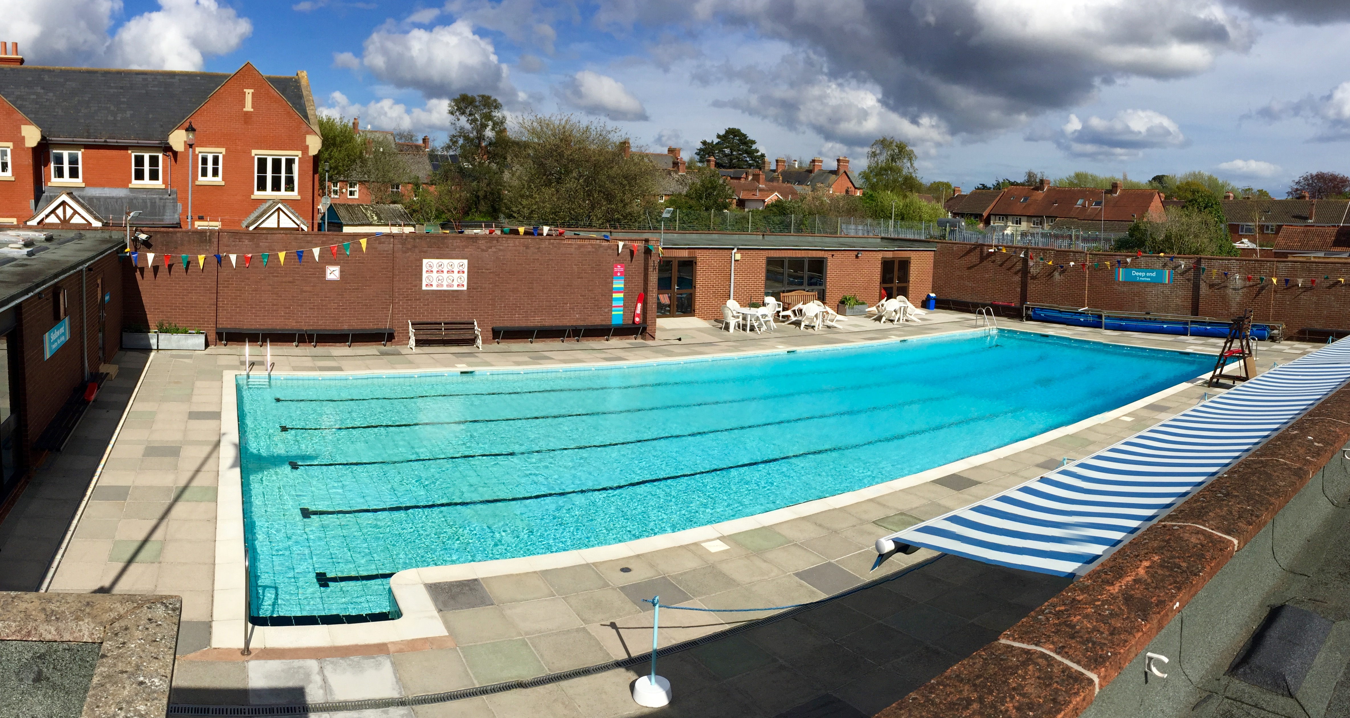 Topsham outdoor swimming pool for Deep swimming pools for garden