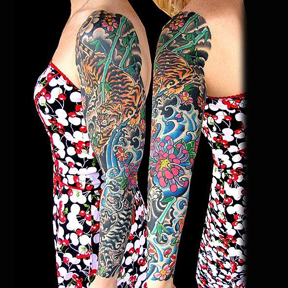 Endless summer tattoo tiger sleeve for Endless summer tattoo