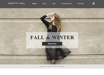 Women's Fashion Template - Attract the most stylish retail lovers with this beautiful and minimalist online store. Create an impression by adding your hottest products to the