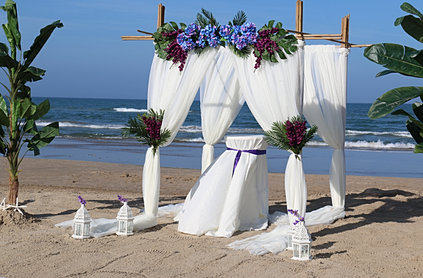 South padre island beach ceremony package for Texas beach wedding packages