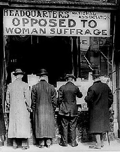 SINGLE VOTE STOPS WOMEN'S SUFFRAGE