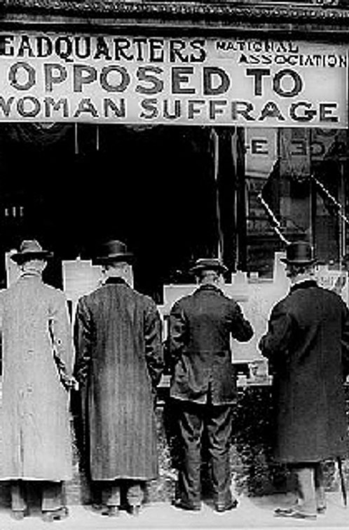 SINGLE VOTE STOPS WOMEN'S SUFFRAGE