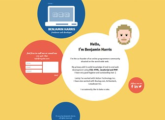 Developer One Pager Template - Engage your customers with this unique techy template. Click to add your own content and get your business online today!
