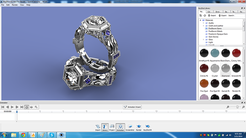 3D Space Pro Custom Jewelry Designs Keyshot