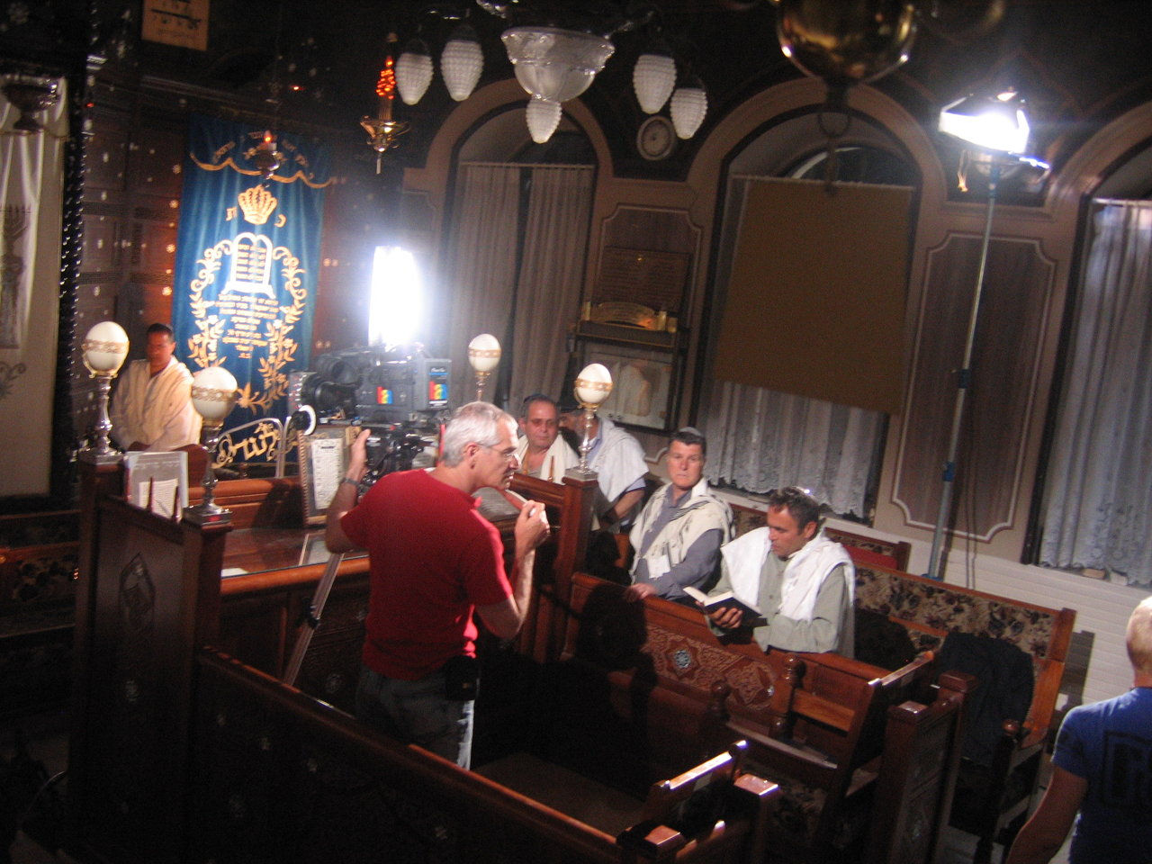 An historic synagogue scene