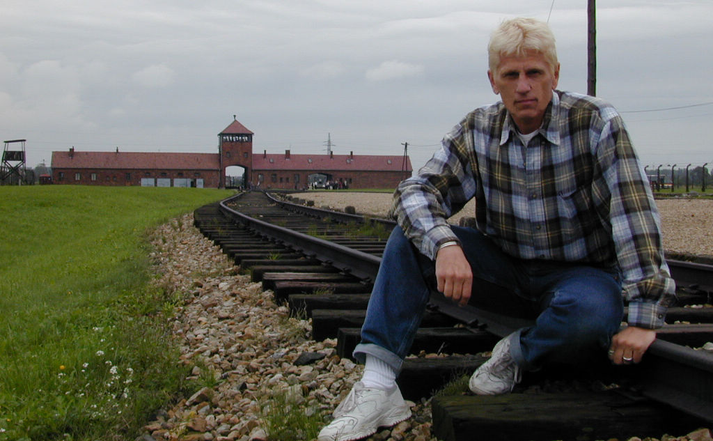 Tom Ivy at Auschwitz