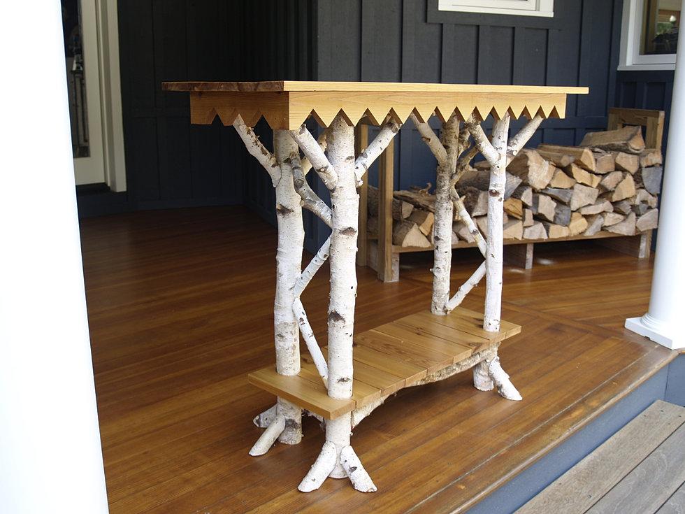 White Birch Table Console Dyan Website Furniture