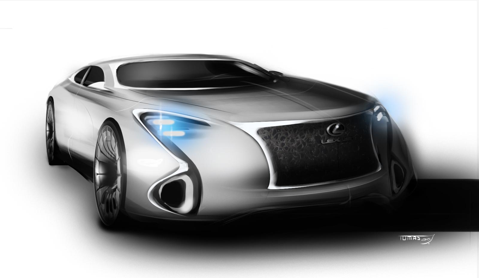 JNKDESIGNWORKS Freelance Design : Lexus concept sketch