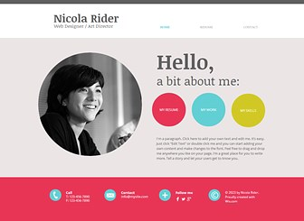 curriculum vitae old website template wix - Website Resume