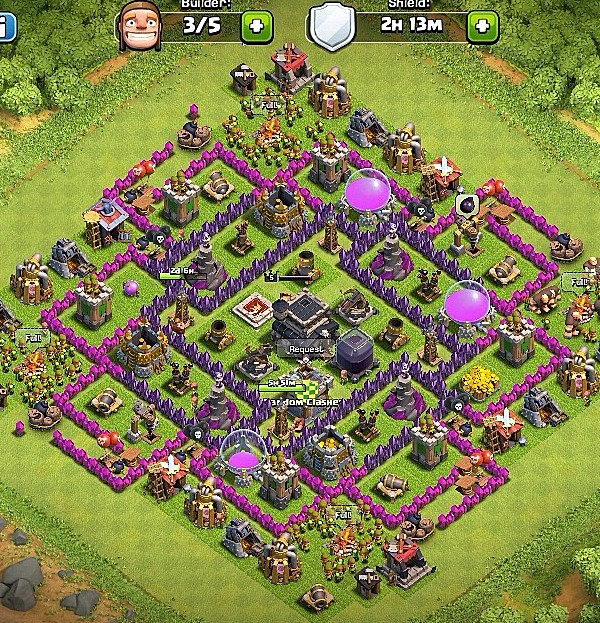 Clashers best bases town hall level 9 defense base