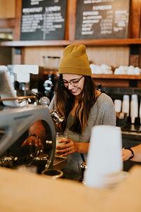 Barister Smiling Female Hipster - Unspla