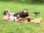 Child learning firearm safety