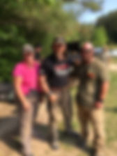 Carl Hirt of Hirts Defensive Solutions NRA Training Counselor & Pat Macnamara. NRA Instructor Chief Range Safety Officer. Cartersville, Ga 30121