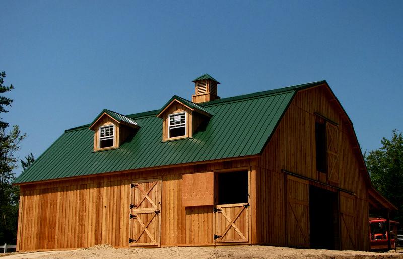 Barns and buildings by all phase nationwide custom builders of barns and buildings pole barns - Gambrel pole barns style ...