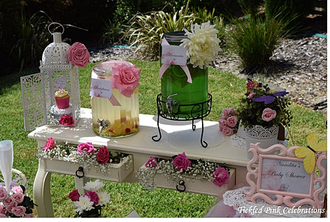 garden baby shower floral table drinks stand watermarked