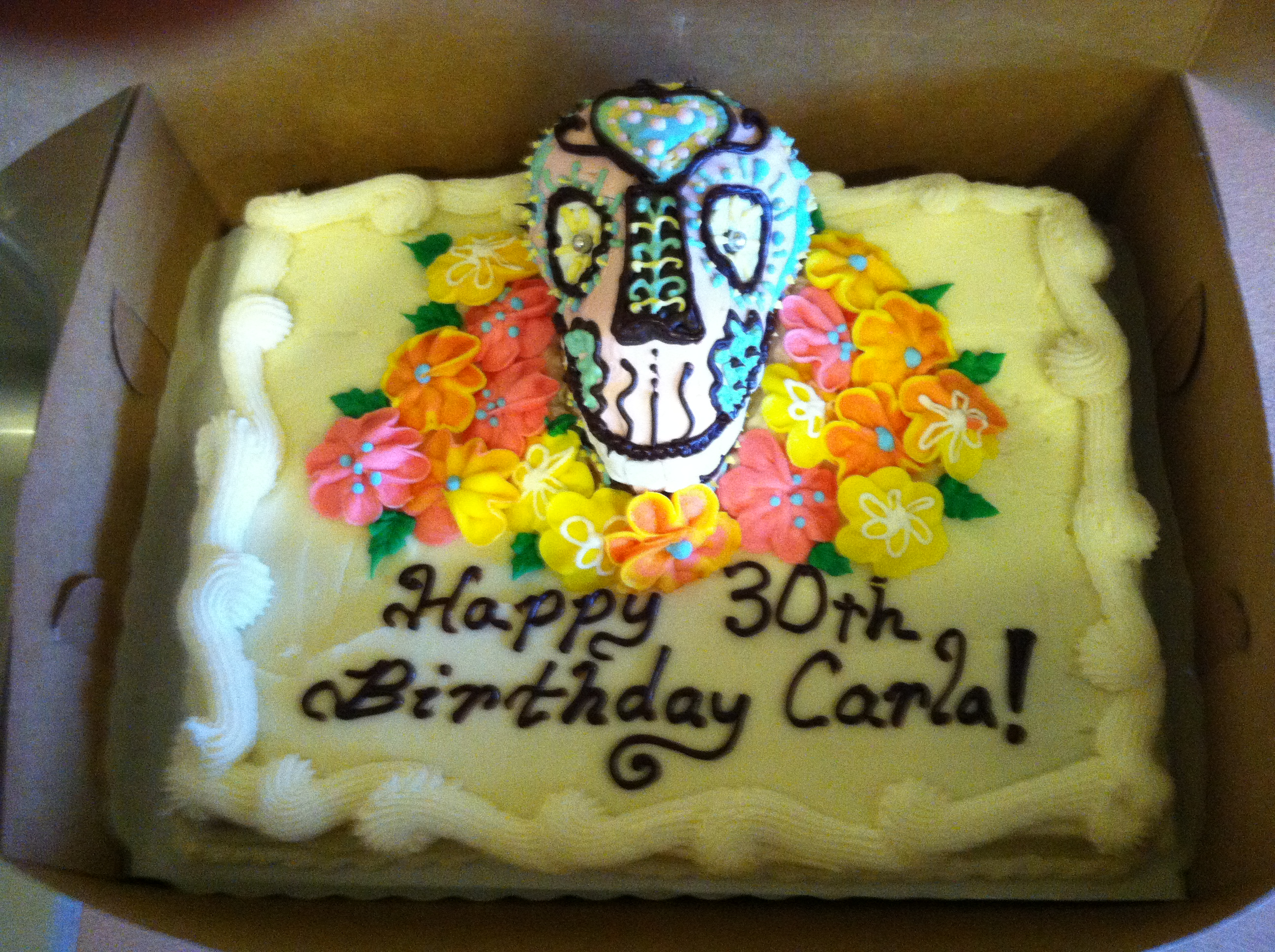 Day Of The Dead Birthday Cake Savory Fare Cafe Bakery Catering