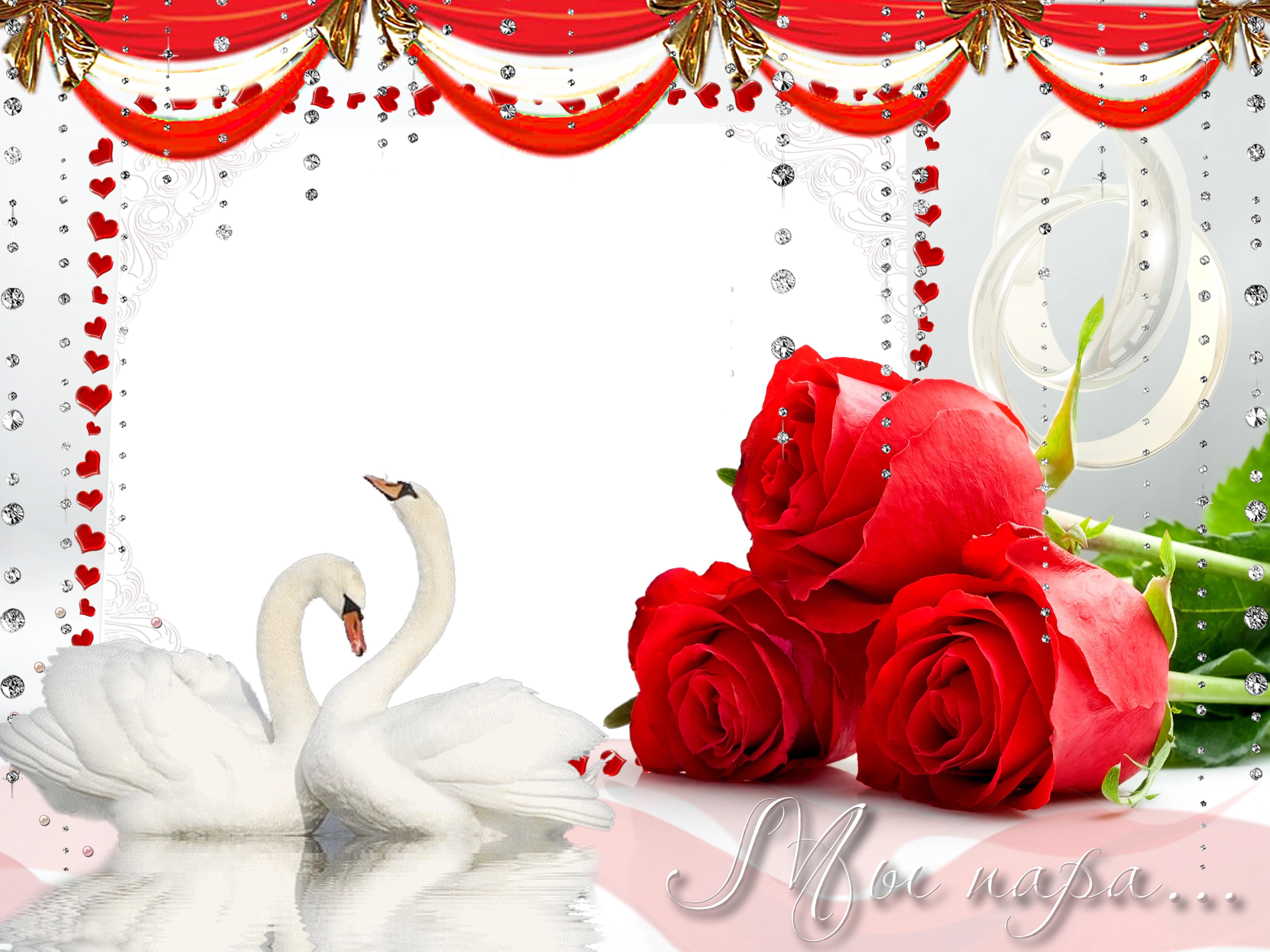Фоторамки для фото с рубиновой свадьбой