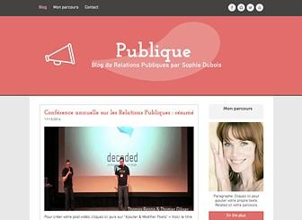 Blog Relations Publiques Template - Discutez des dernières actualités internationales avec ce template de blog professionnel et accueillant. Grâce aux pages