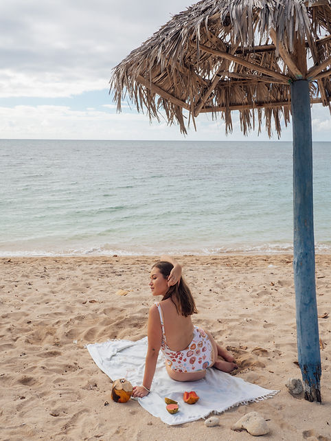 TRINIDAD BEACH CUBA SHE TRAVELLED THE WO