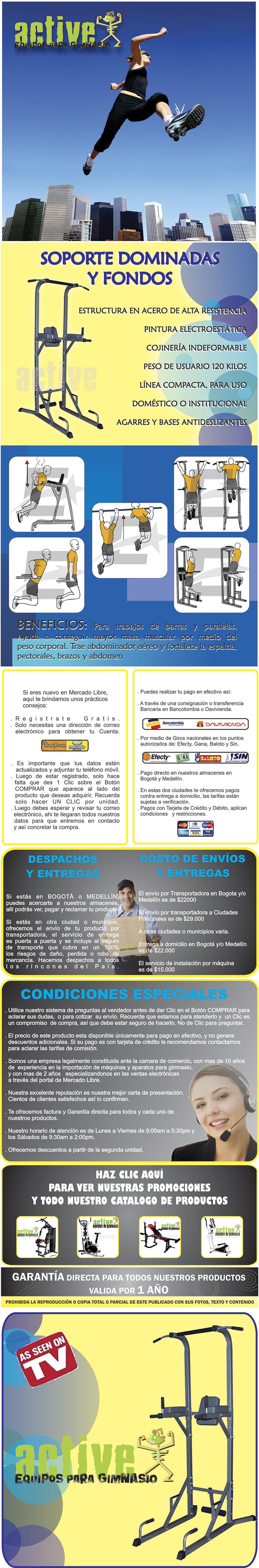 SOPORTE DE DOMINADAS Y FONDOS