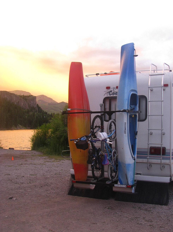 rvs for vertiyak watch kayak youtube racks and rack rv campers