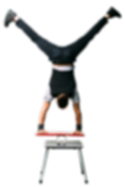 Handstand and Balance by Comedy Juggler Jason D'Vaude