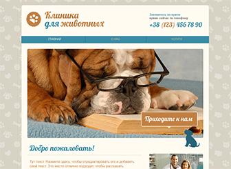 Ветеринарная клиника Template - Встречайте владельцев домашних питомцев на странице вашей частной ветеринарной практики или клиники, созданной с использованием этого удобного шаблона. Добавьте описания, чтобы рассказать об услугах, видах лечения и процедурах, которые вы предлагаете. Поиграйте с цветами и внесите те изменения, которые помогут подчеркнуть ваше профессиональное видение.