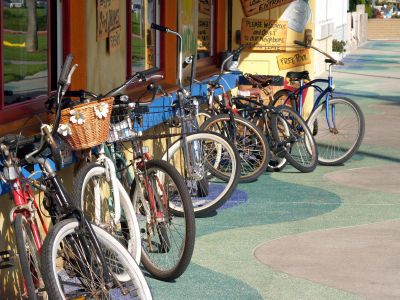 storefront with bicycles