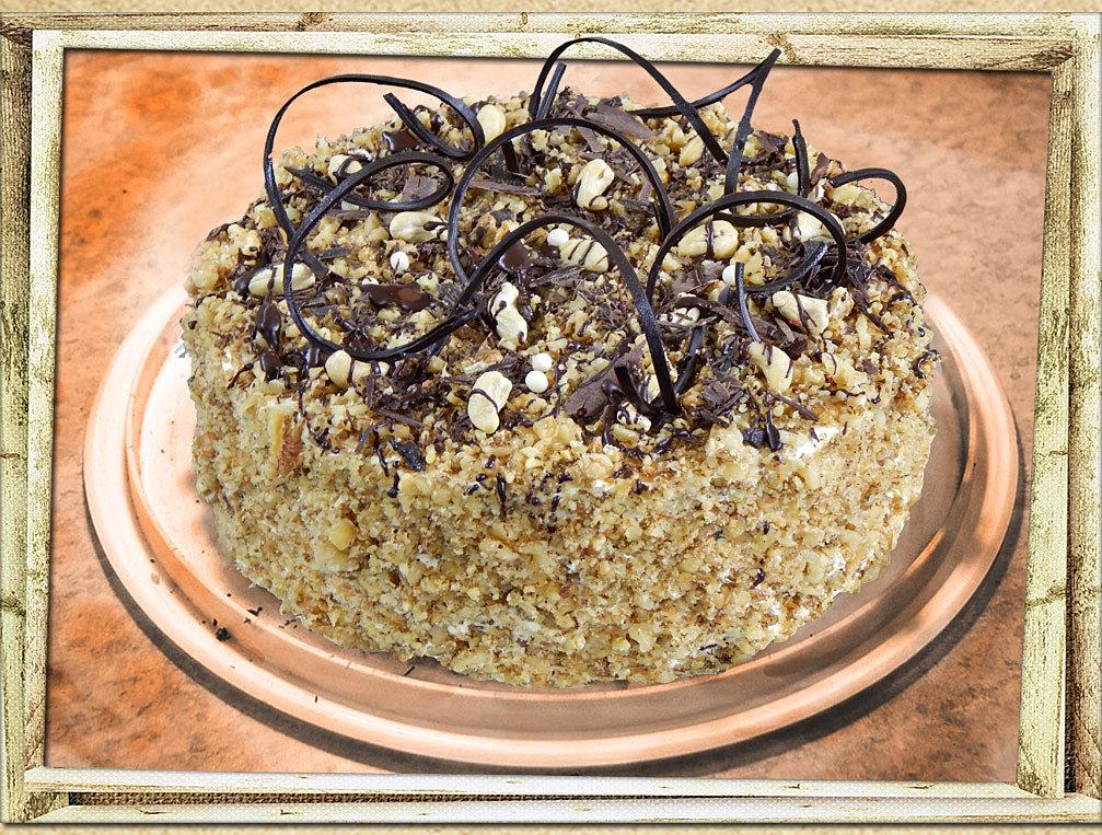 Торт из мака орехов изюма