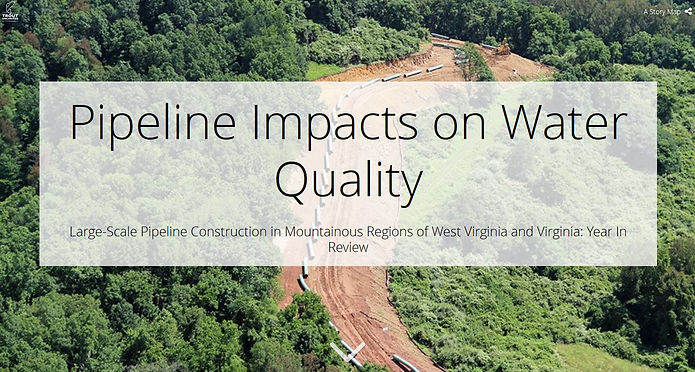 TU Pipeline Impacts on Water Story Map