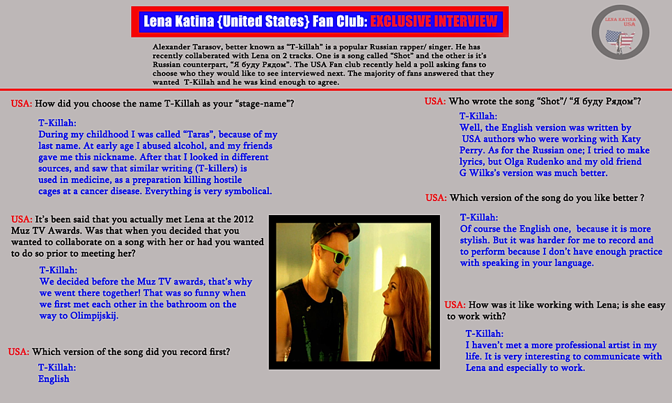 Lena katina usa our interviews our interview with t killah stopboris Images