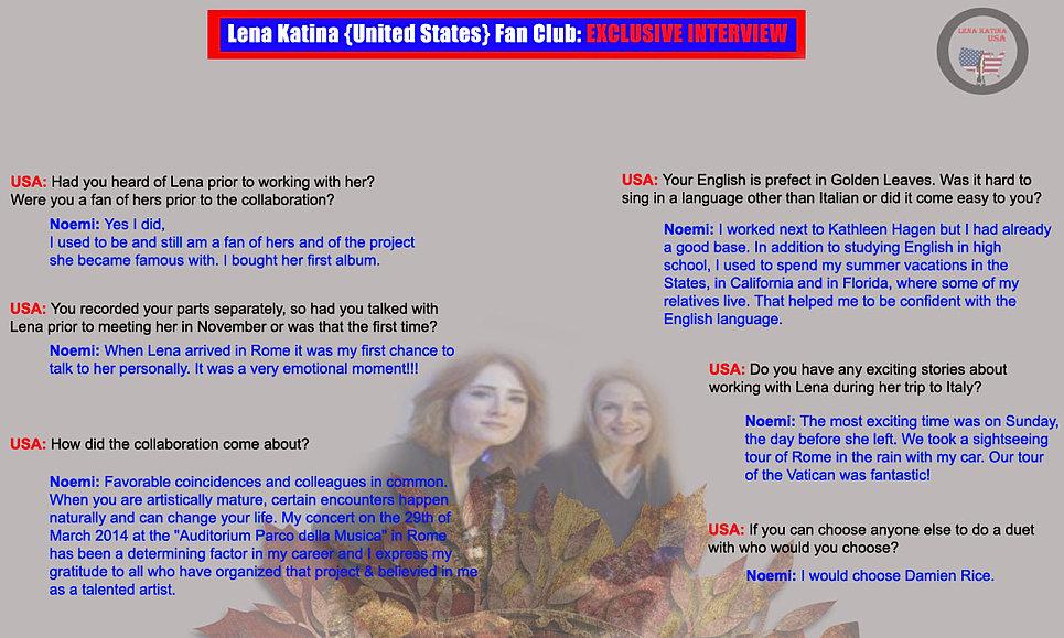 Lena katina usa our interviews exclusive interviewnoemi smorra 25 stopboris Images