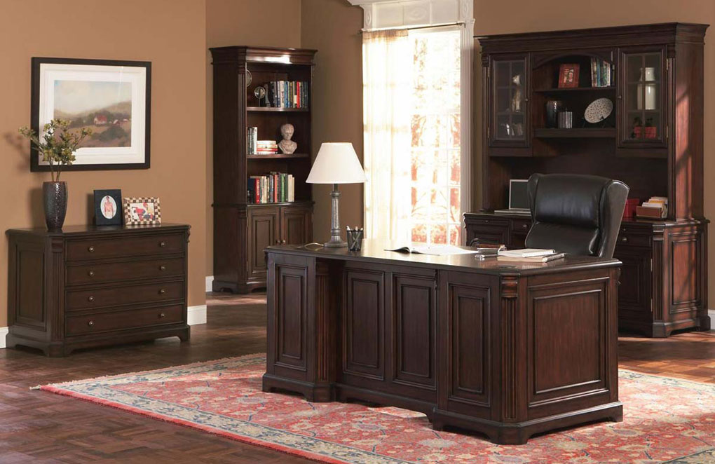 Interesting Home Office Set Bay In Cherry Design Inspiration