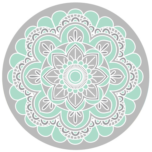 Screen Door Magnets   Teal Mandala