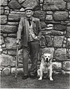 Scottish Man and His Dog 1980