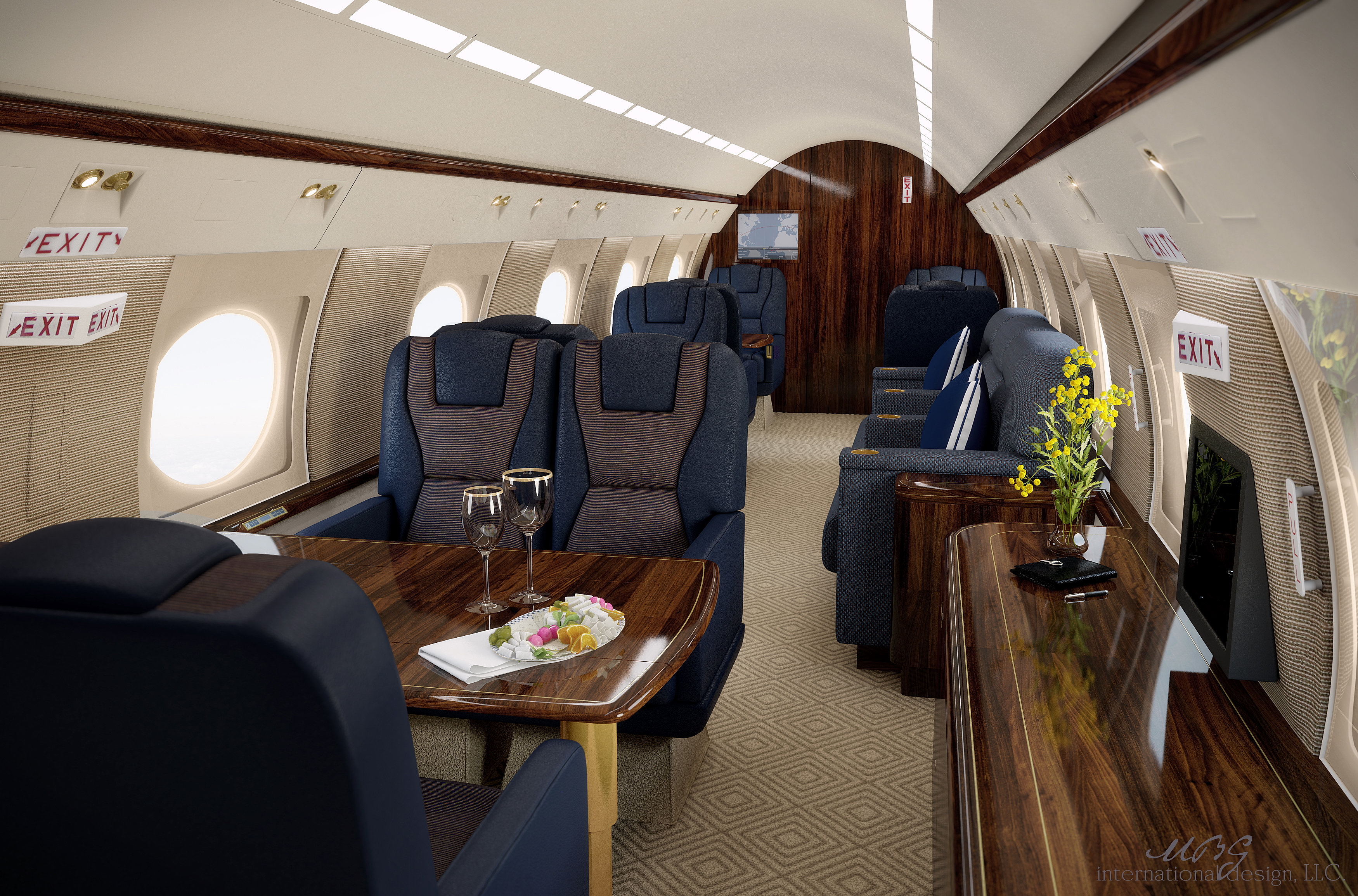 Vip Private Business Aircraft Design Aircraft Interior Design