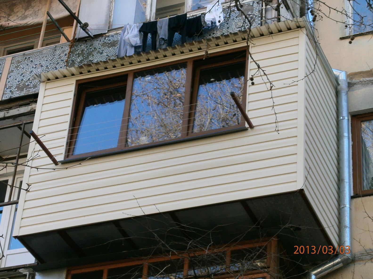 Балконы в одессе под ключ.