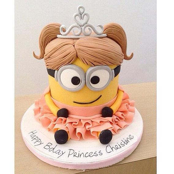 Торт для девочки миньоны