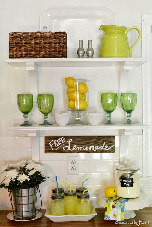 Charming Decorate Kitchen Shelves #9: How To Decorate Open Kitchen Shelves