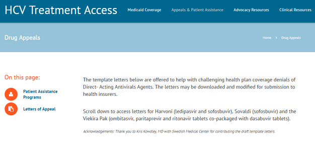 t he template letters below are offered to help with challenging health plan coverage denials of direct acting antivirals agents - Medical Appeal Letters
