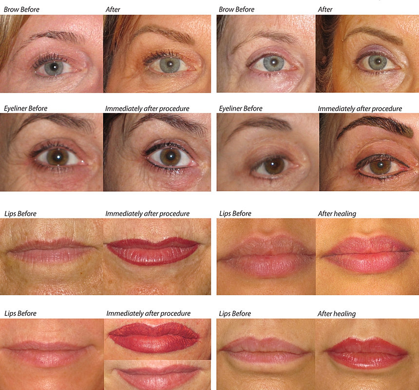 Permanent makeup monterey before after for A perfect touch salon