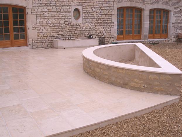 Pose de carrelage et pl tre - Terrasse en pierre reconstituee ...