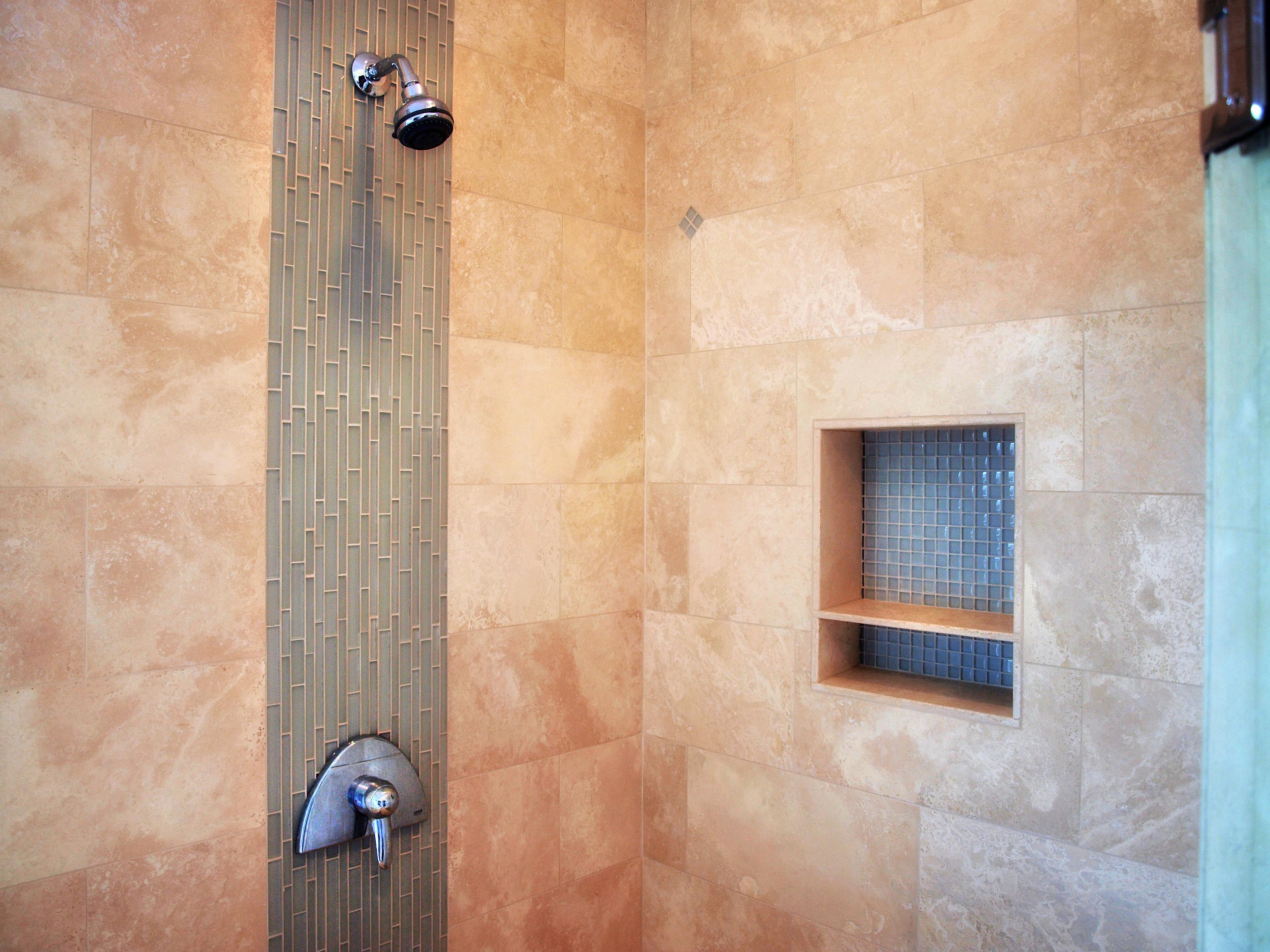 Bobby vilas design glass tile waterfall for Waterfall design tiles