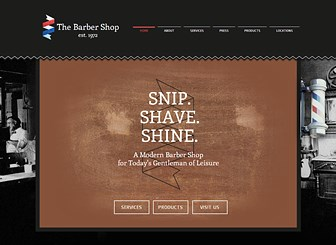 The Barber Website Template | WIX